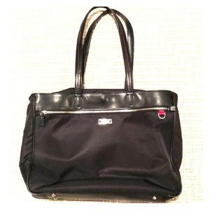 495c043c911c Tumi business tote - black nylon w  leather straps